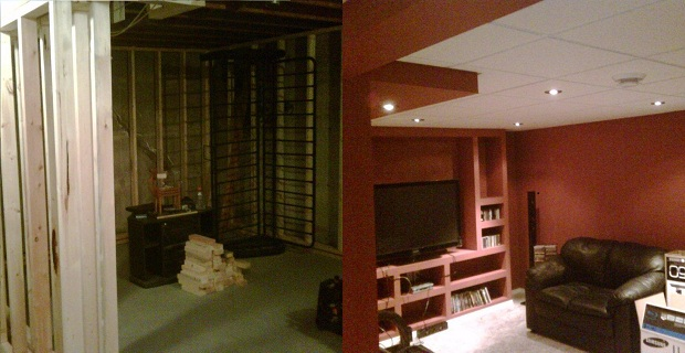 Media Room Before and After